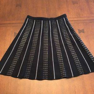 Black & White Pattern Skirt Knit Material Size XS